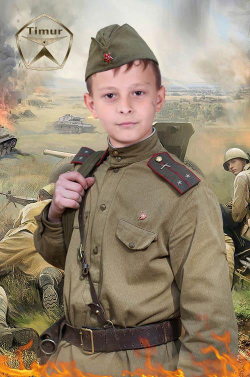 Детский шаблон для фотошопа - Командир расчета