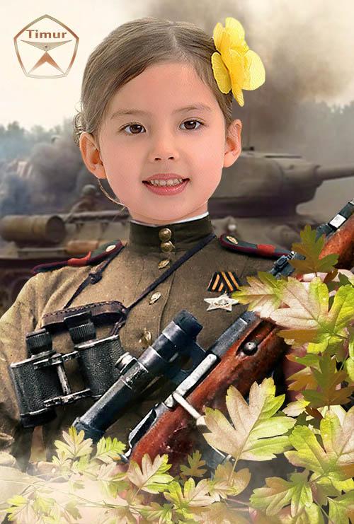 Детский шаблон для фотошопа - День победы