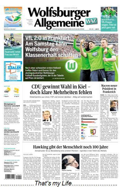 Wolfsburger Allgemeine Zeitung 8 Mai 2017