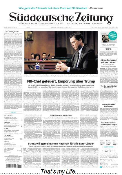 Sueddeutsche Zeitung 11 Mai 2017