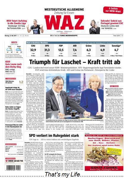 Waz Westdeutsche Allgemeine Zeitung 15 Mai 2017