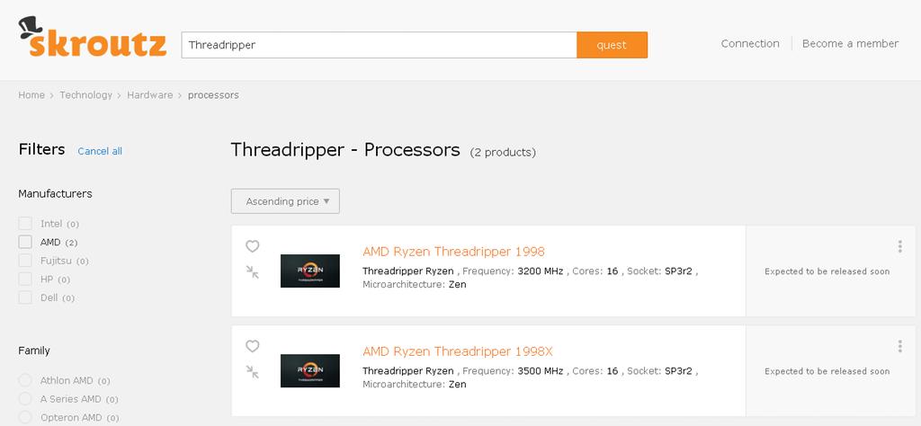 AMD - Ryzen Threadripper: HEDT, Zen-Basis, bis zu 16C (14nm, 2017 ...