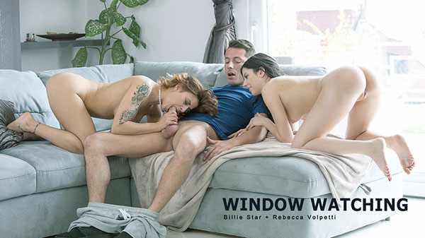 StepMomLessons Billie Star And Rebecca Volpetti Window Watching 1080p Cover