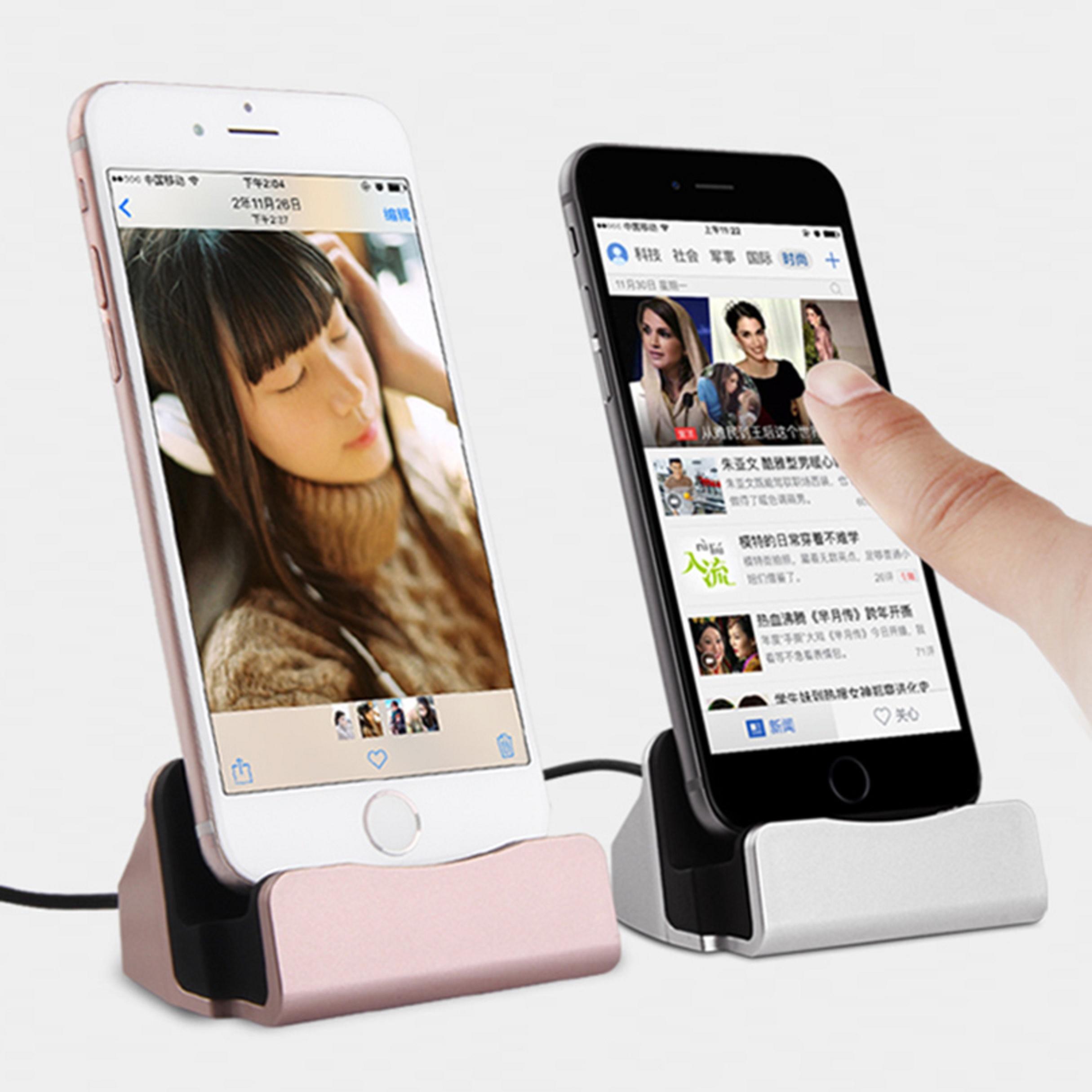 dockingstation ladestation ladeger t ladekabel iphone 6s 6s plus 7 7 plus 8 8 x ebay. Black Bedroom Furniture Sets. Home Design Ideas