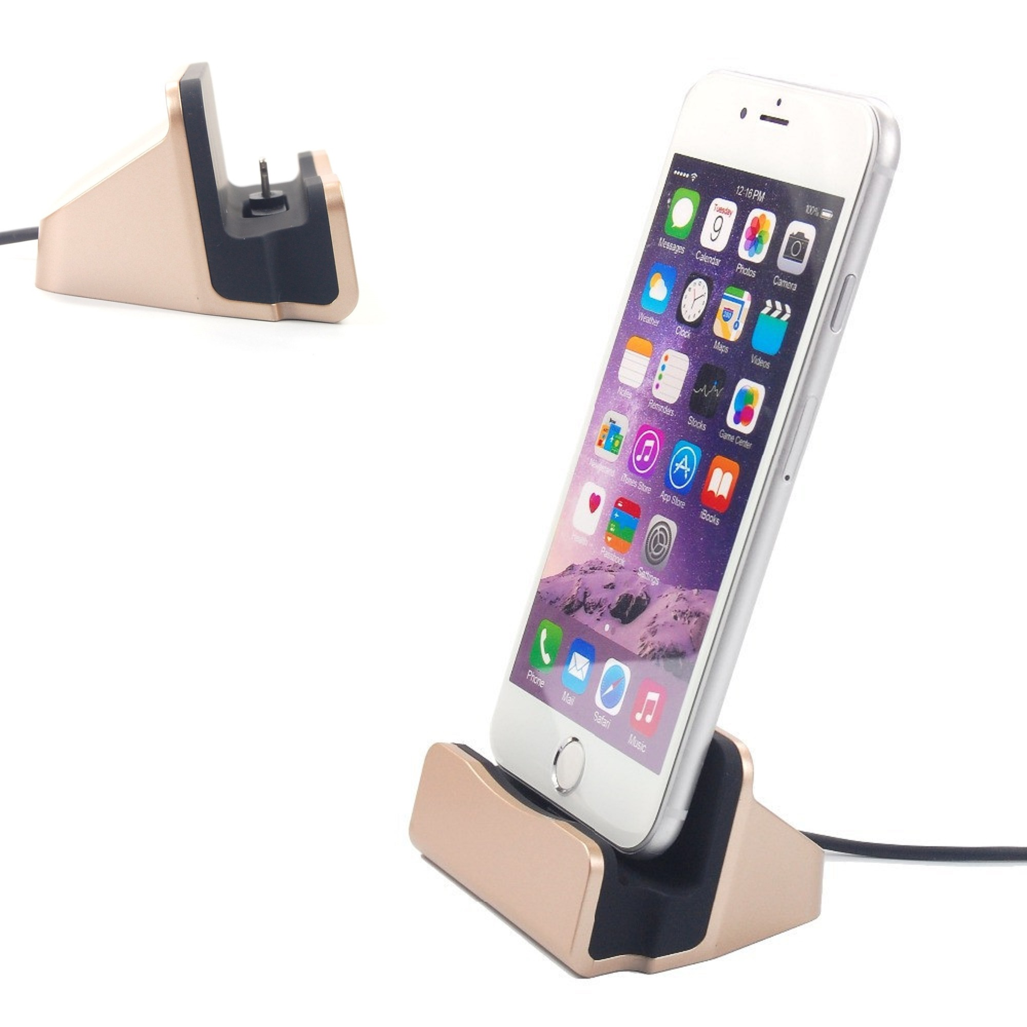 dockingstation ladestation ladeger t ladekabel f r apple iphone 5 5s 5c 6 6s se ebay. Black Bedroom Furniture Sets. Home Design Ideas