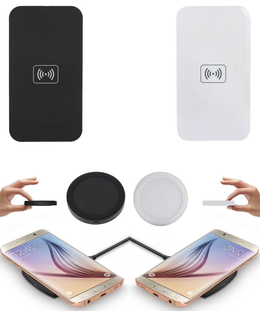 induktive ladestation ladeger t dockingstation kabellos wireless charger pad neu ebay. Black Bedroom Furniture Sets. Home Design Ideas