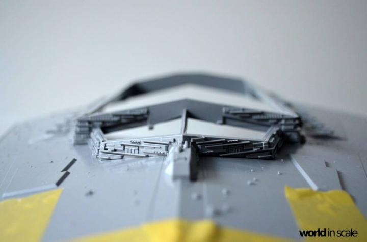 "Star Destroyer ""Imperium I-Class"" - 1/2700 by Revell/Zvezda + Illumination 4z49devl"