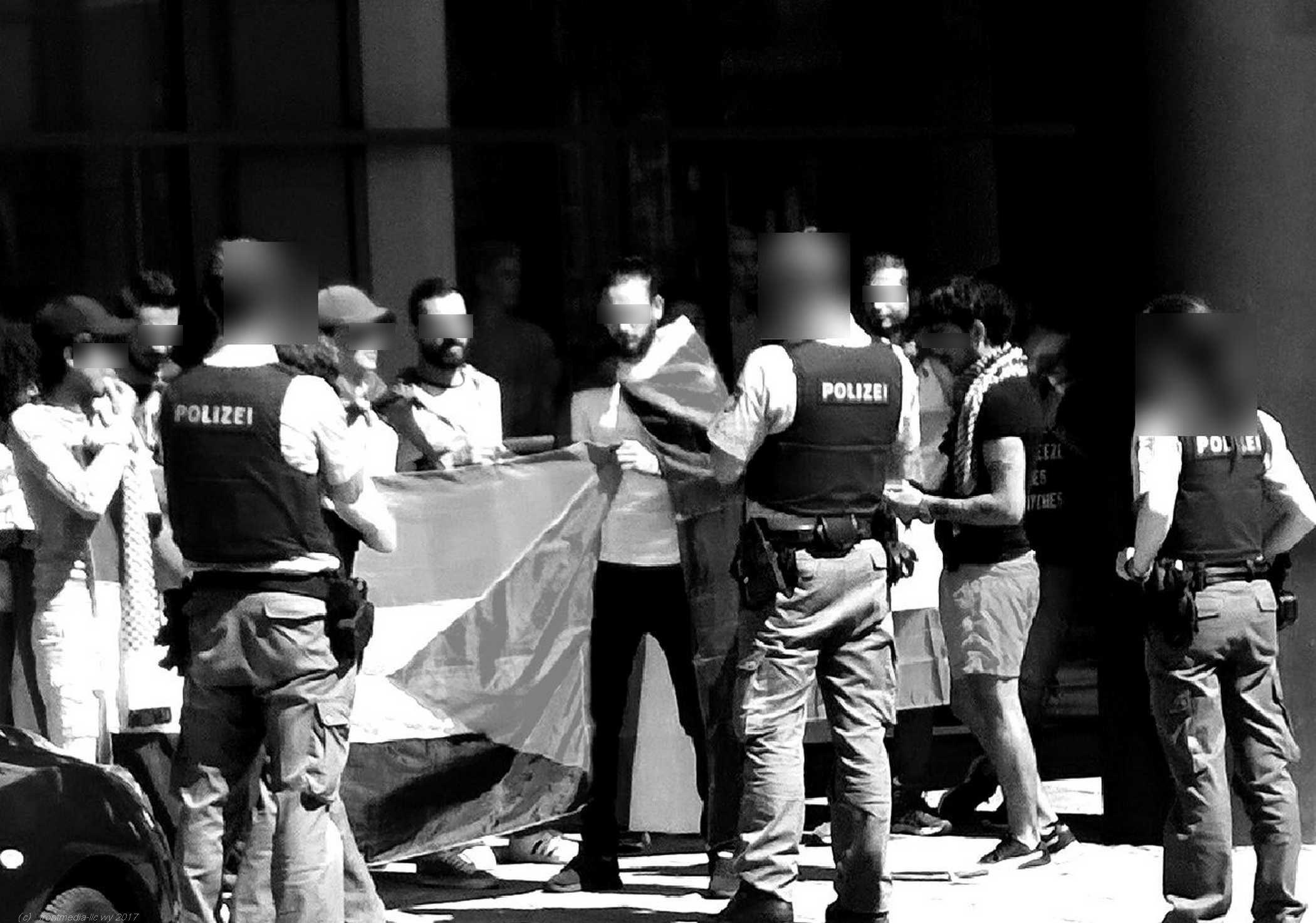 Provokation und Krawall, ohne zu wissen, wie herum man die Palästinaflagge überhaupt hält!