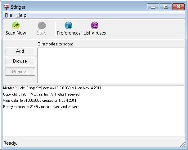 McAfee Labs Stinger 12.1.0.2403 (32/64 Bit)