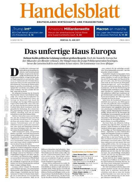 : Handelsblatt 19 Juni 2017