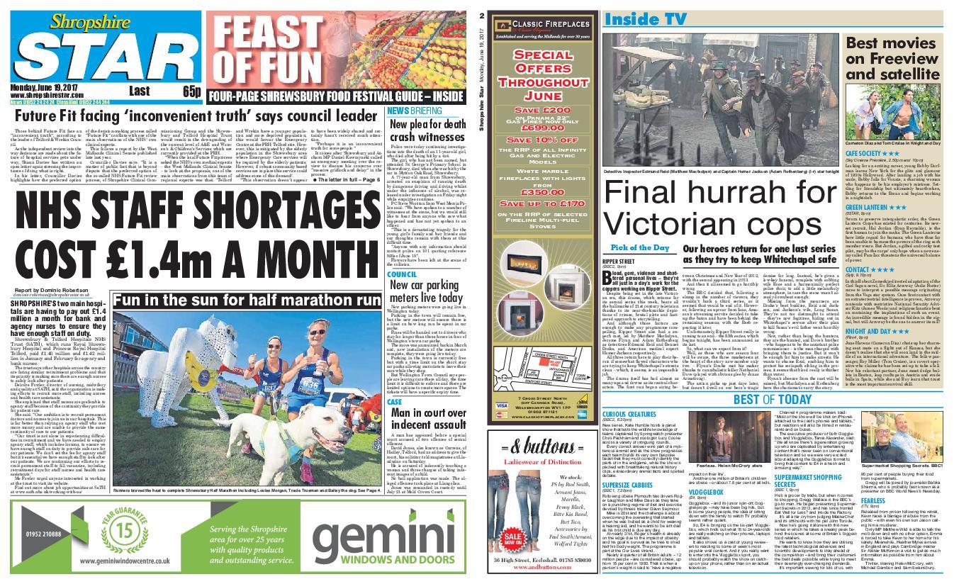 : Shropshire Star Last Telford Edition June 19 2017