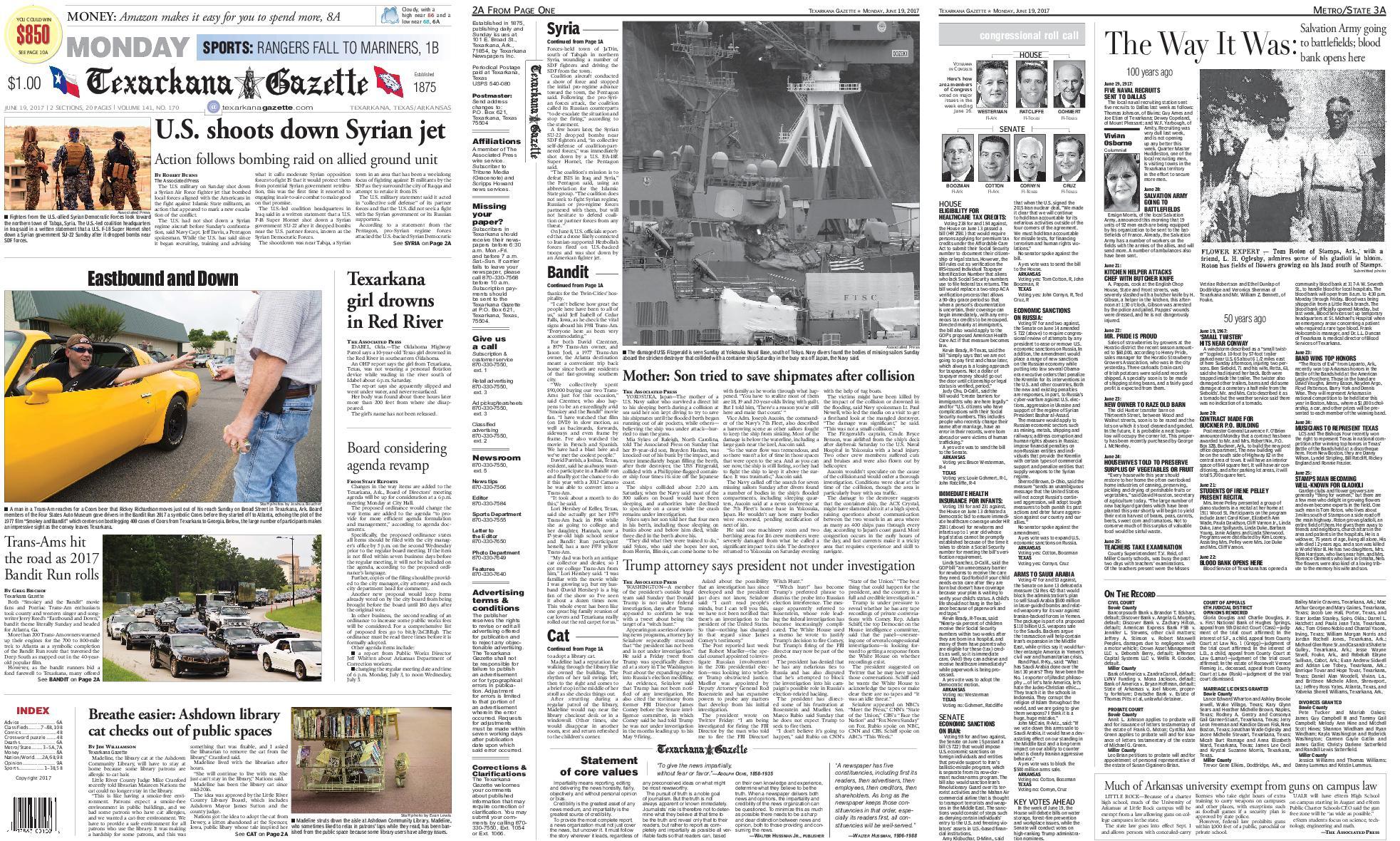 : The Texarkana Gazette June 19 2017