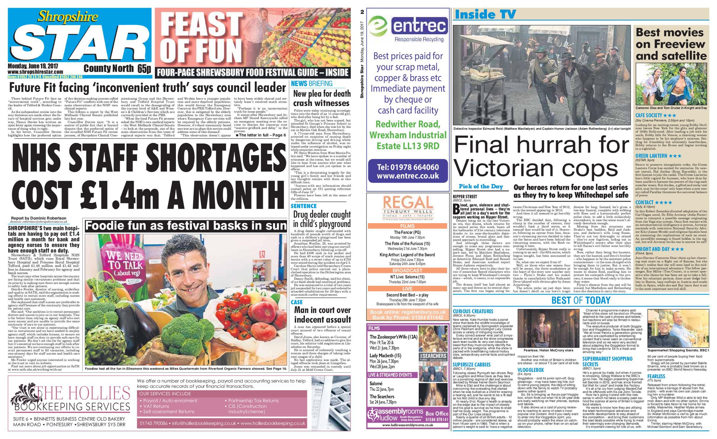 : Shropshire Star Nrrth County Edition June 19 2017