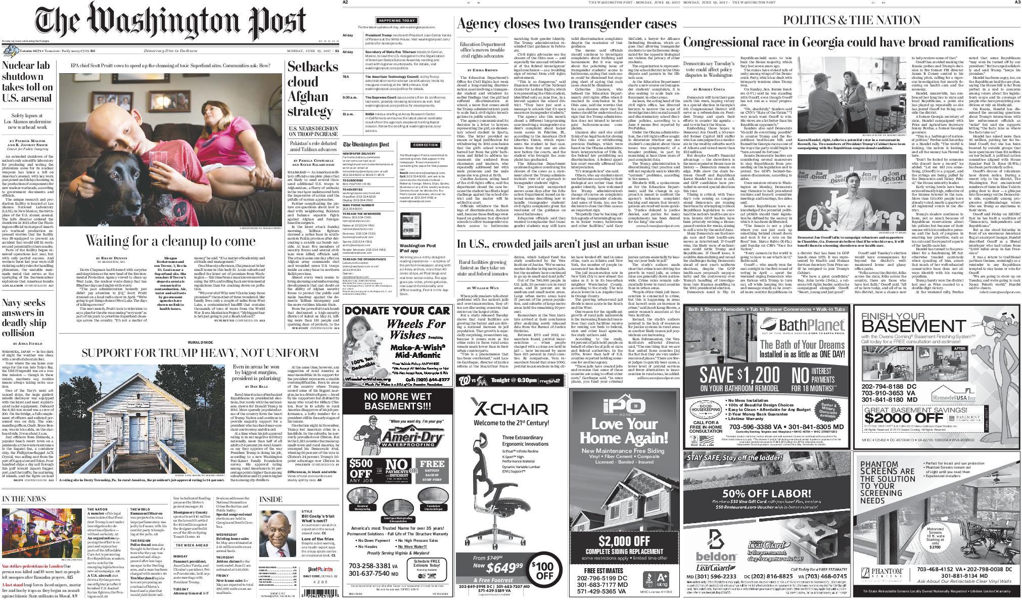 : The Washington Post June 19 2017