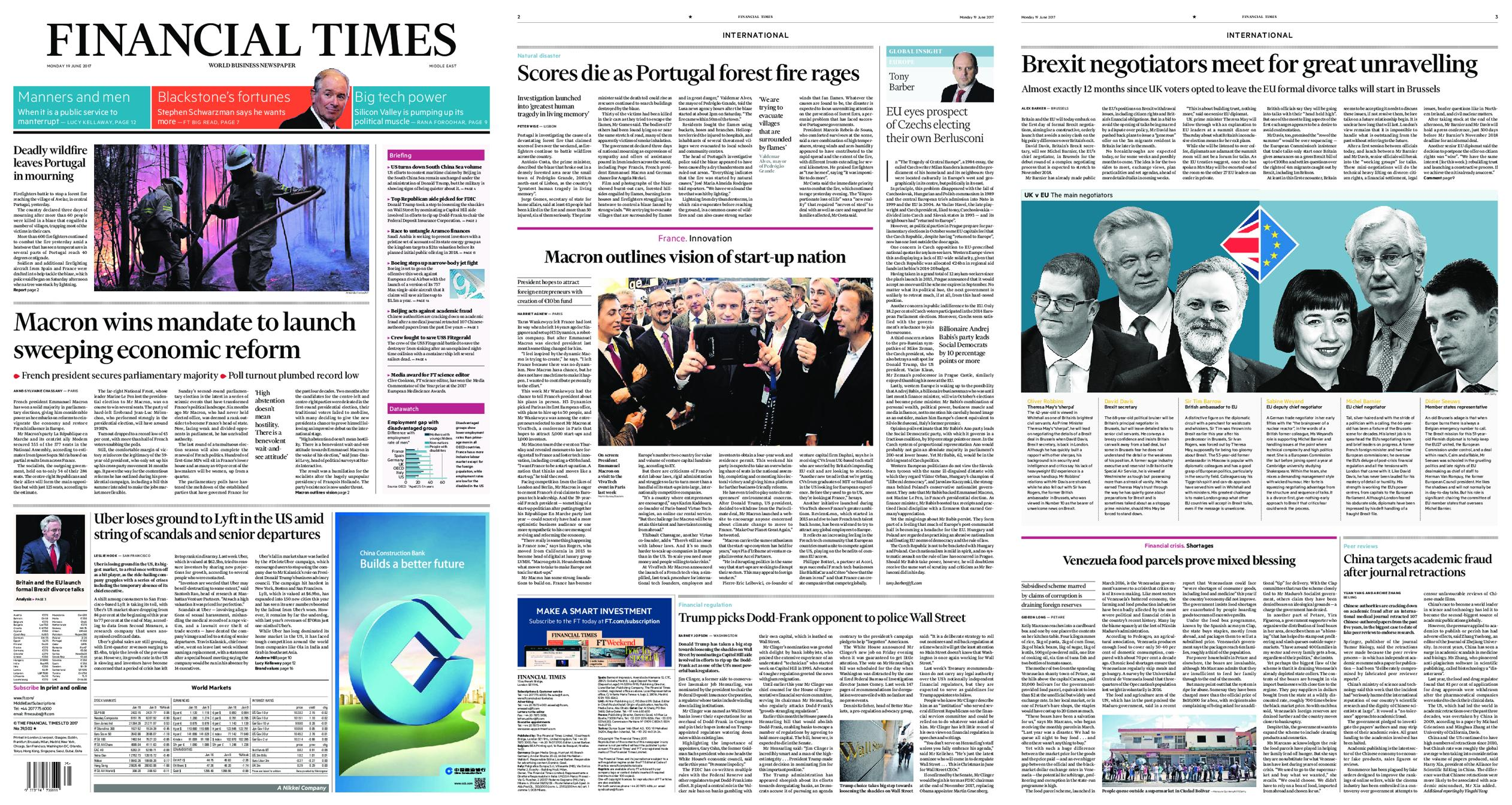 : Financial Times Middle East June 19 2017