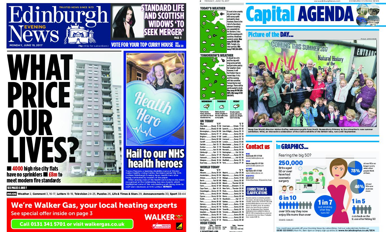 : Edinburgh Evening News June 19 2017