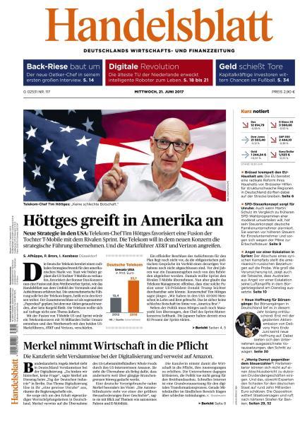 Handelsblatt 21 Juni 2017