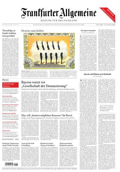 Frankfurter Allgemeine Zeitung 22 Juni 2017