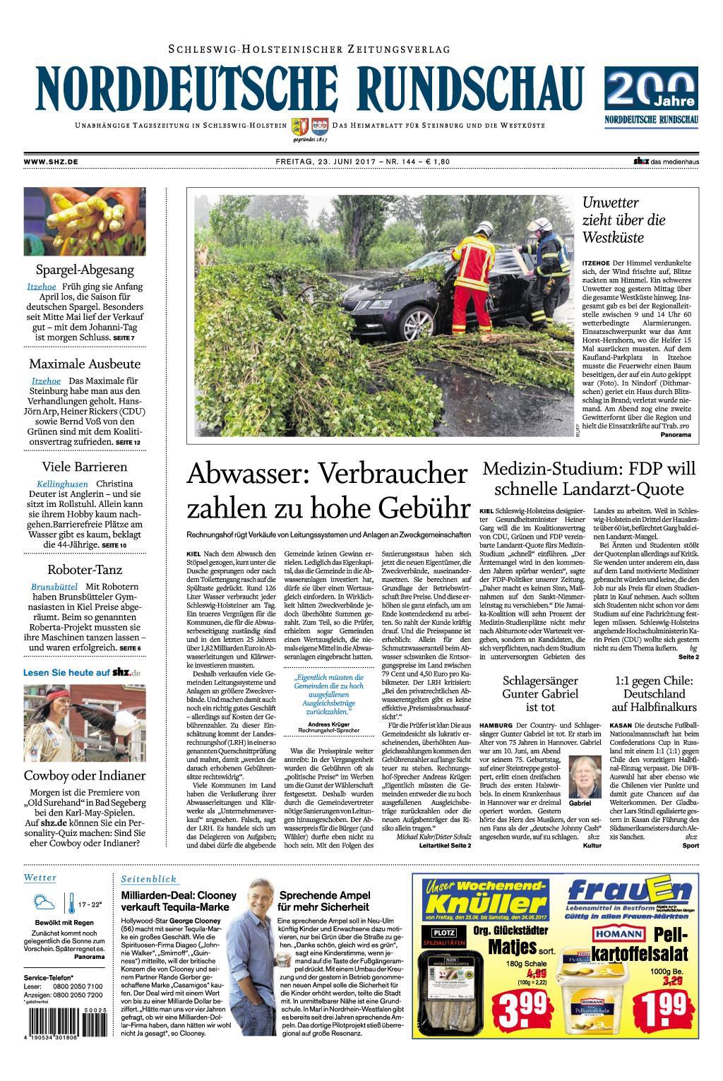 Nrrddeutsche Rundschau 23 Juni 2017