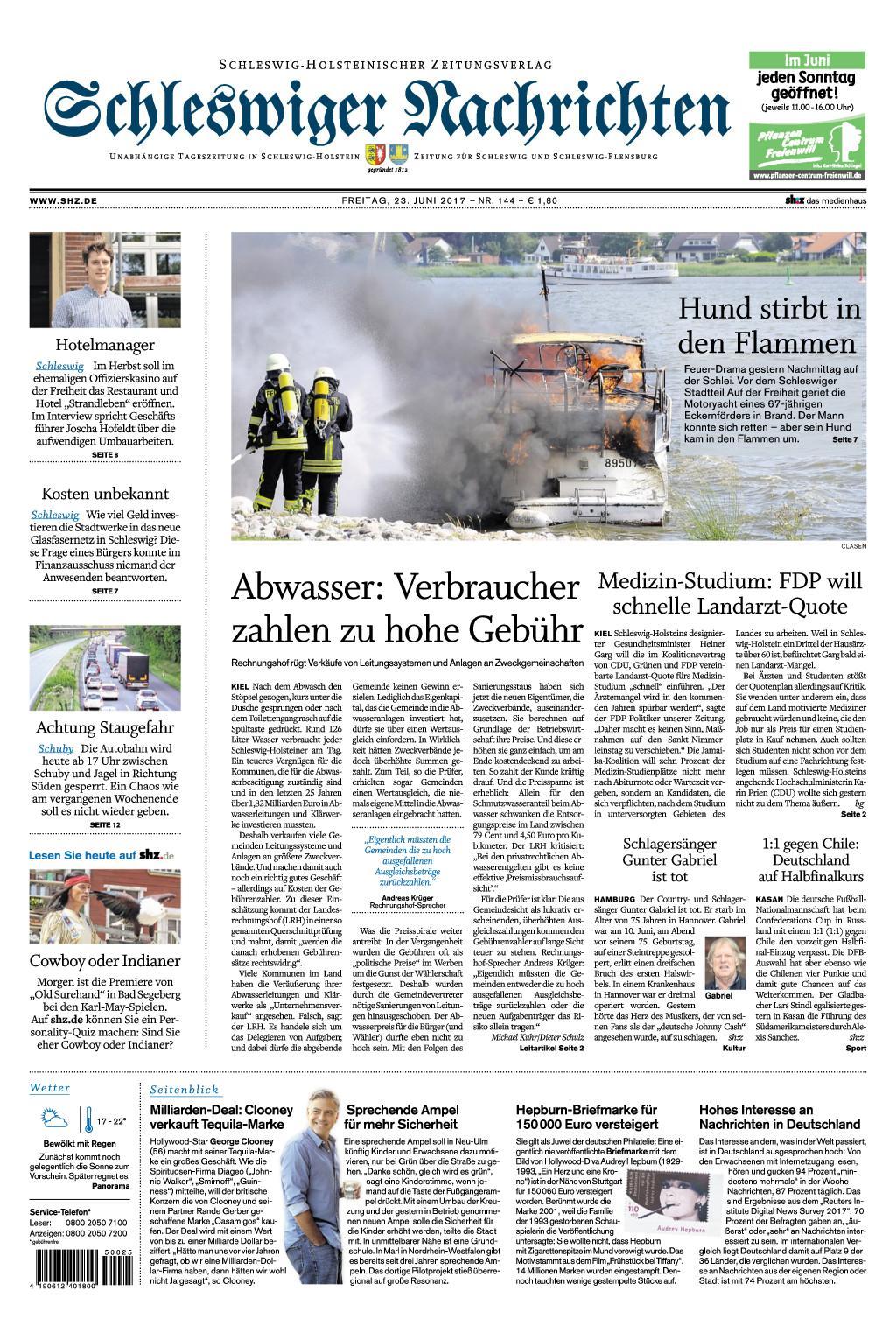 Schleswiger Nachrichten 23 Juni 2017