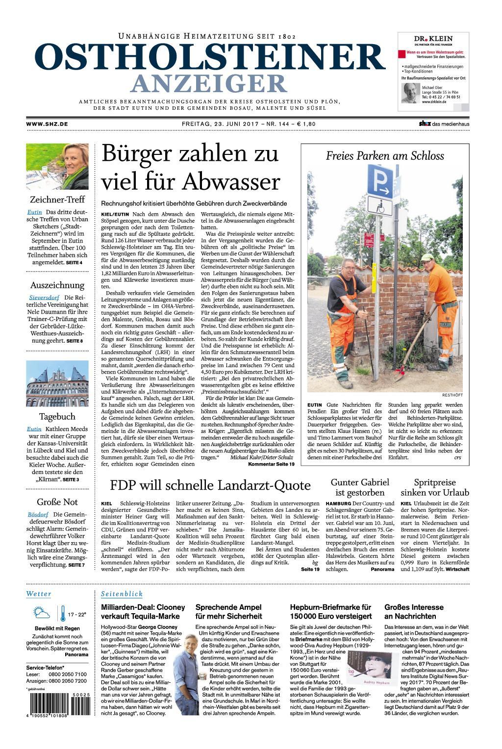 Ostholsteiner Anzeiger 23 Juni 2017