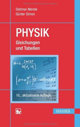 Physik Gleichungen und Tabellen Auflage 16