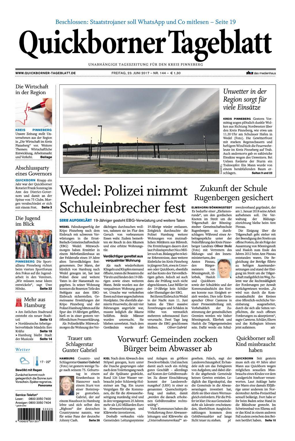 Quickborner Tageblatt 23 Juni 2017