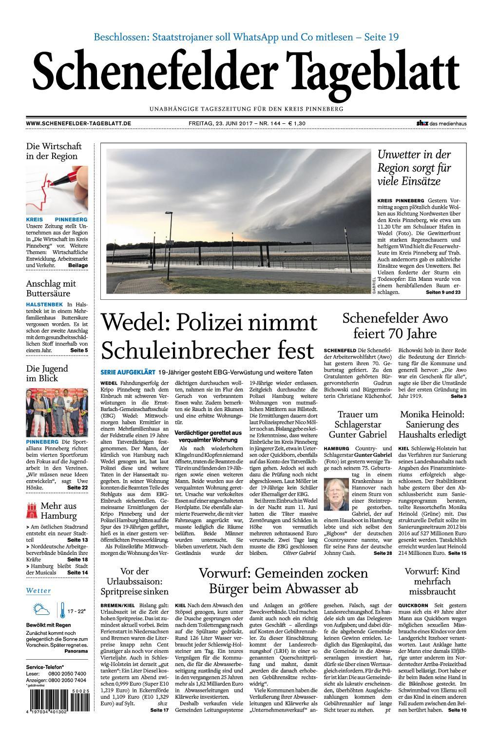 Schenefelder Tageblatt 23 Juni 2017