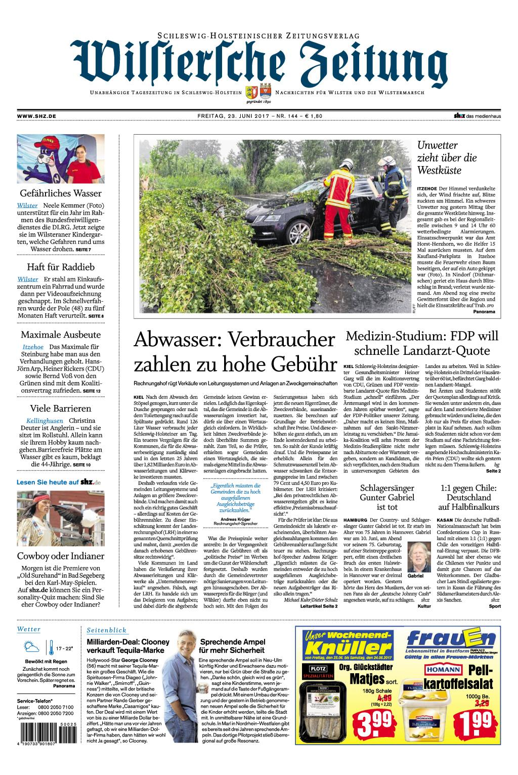 Wilstersche Zeitung 23 Juni 2017