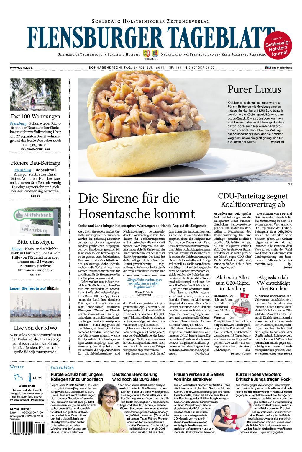 Flensburger Tageblatt 24 Juni 2017