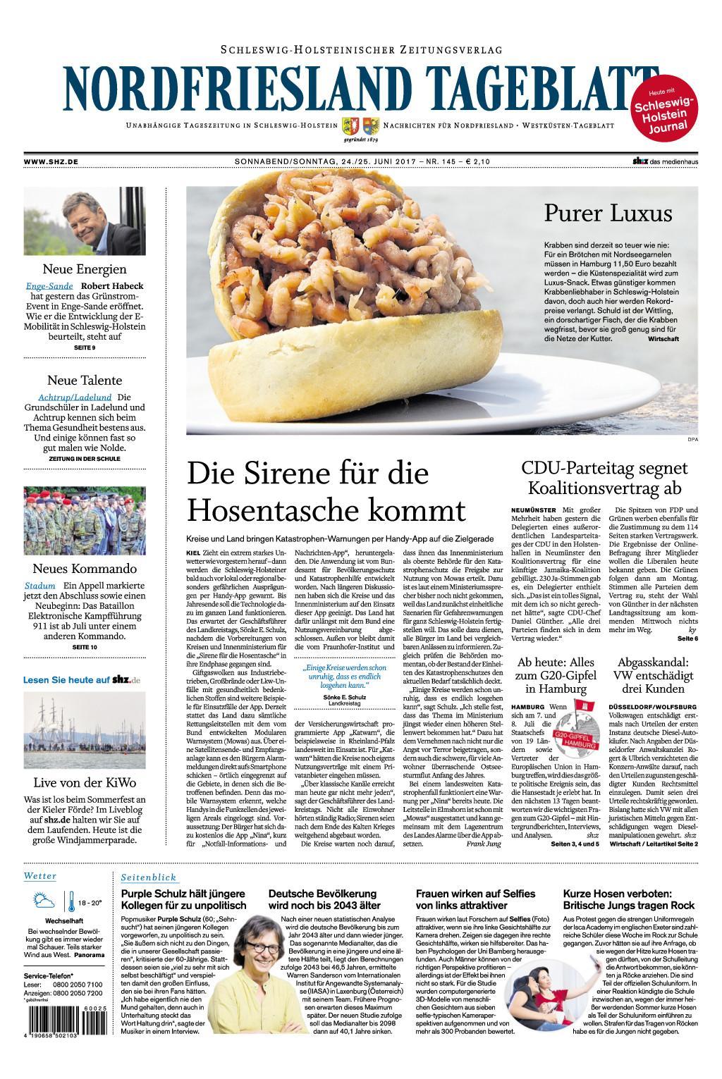 Nrrdfriesland Tageblatt 24 Juni 2017