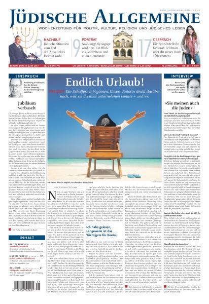 Juedische Allgemeine 22 Juni 2017