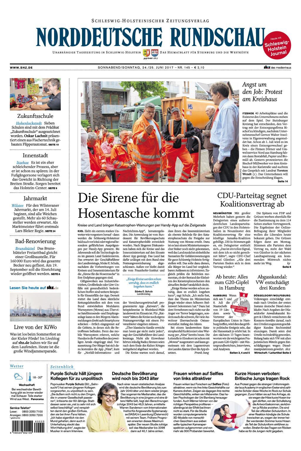 Nrrddeutsche Rundschau 24 Juni 2017