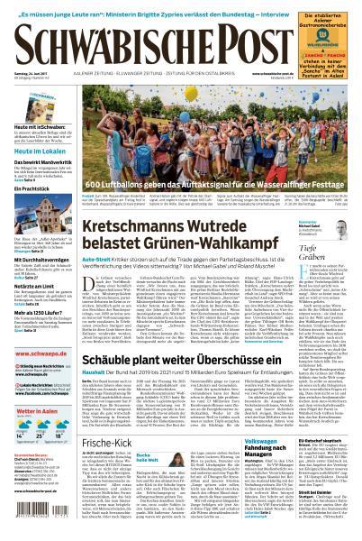 Schwaebische Post 24 Juni 2017