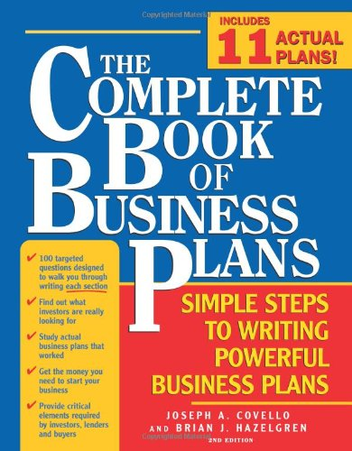 The Complete Book of Business Plans Simple Steps to Writing Powerful Business Plans 2nd Edition