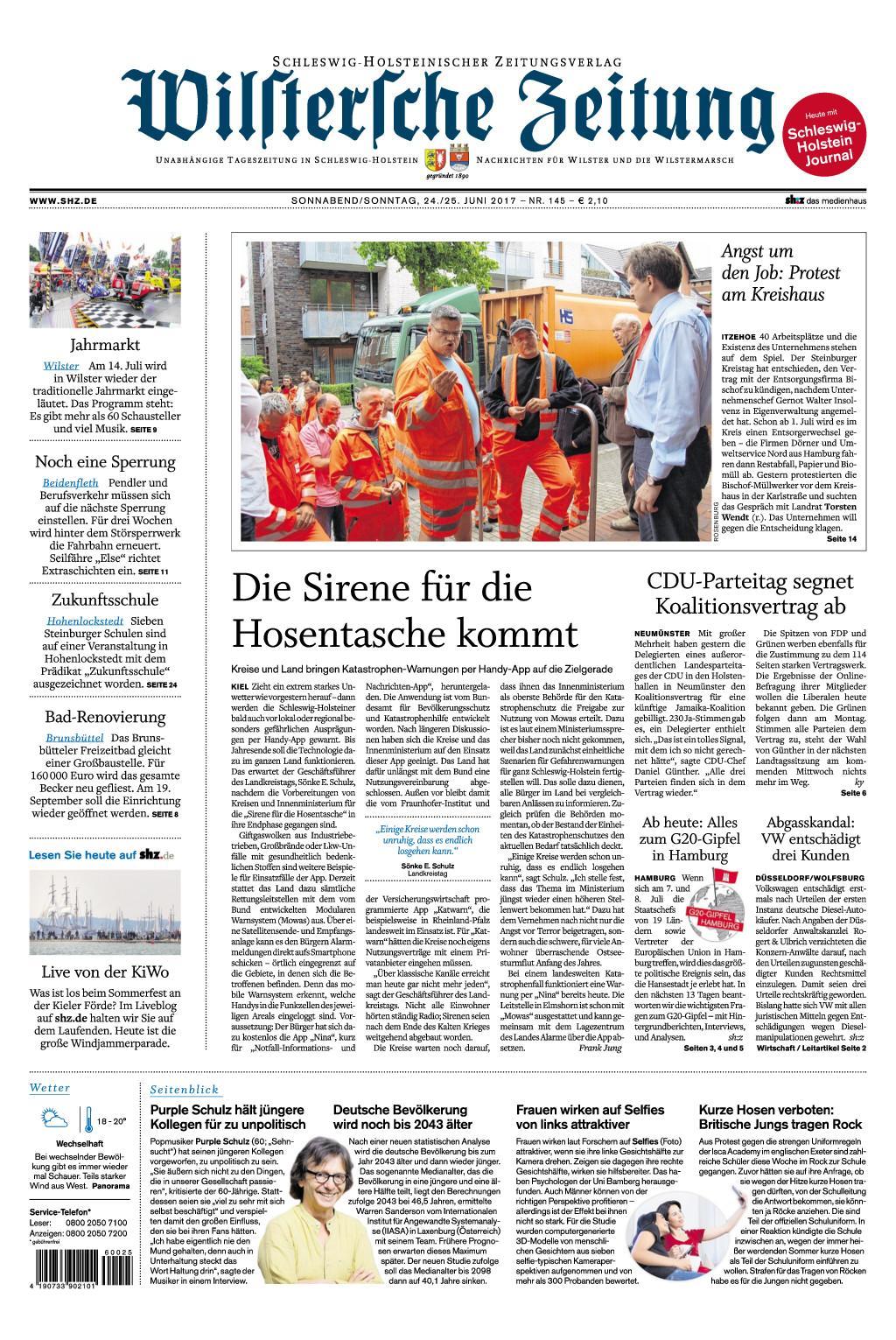 Wilstersche Zeitung 24 Juni 2017