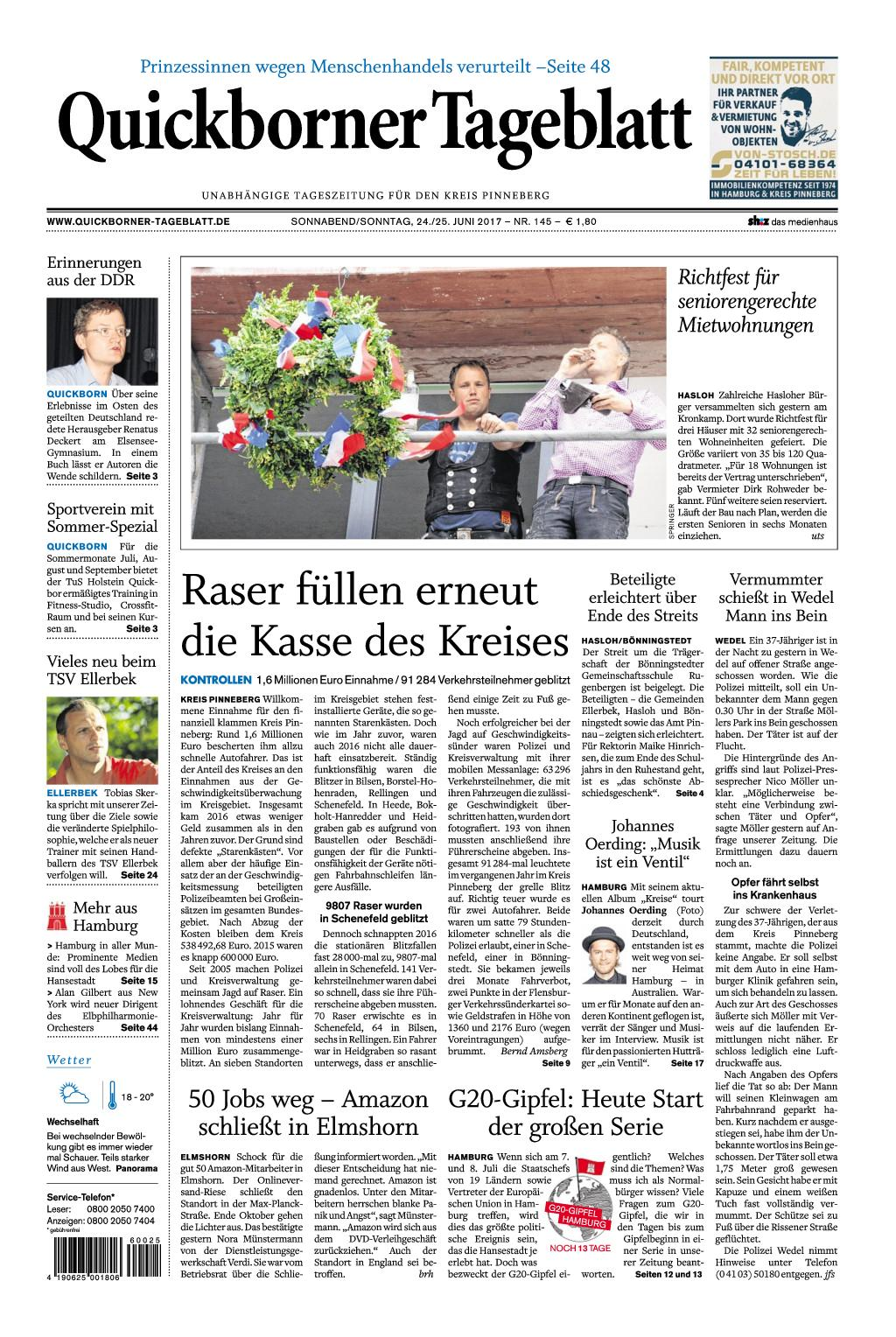 Quickborner Tageblatt 24 Juni 2017