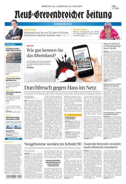 Neuss Grevenbroicher Zeitung 24 Juni 2017