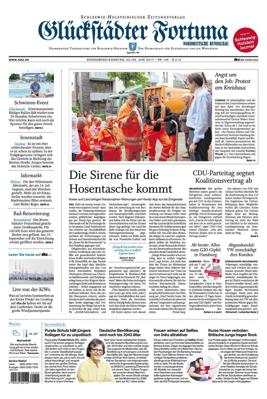 Glueckstaedter Fortuna 24 Juni 2017