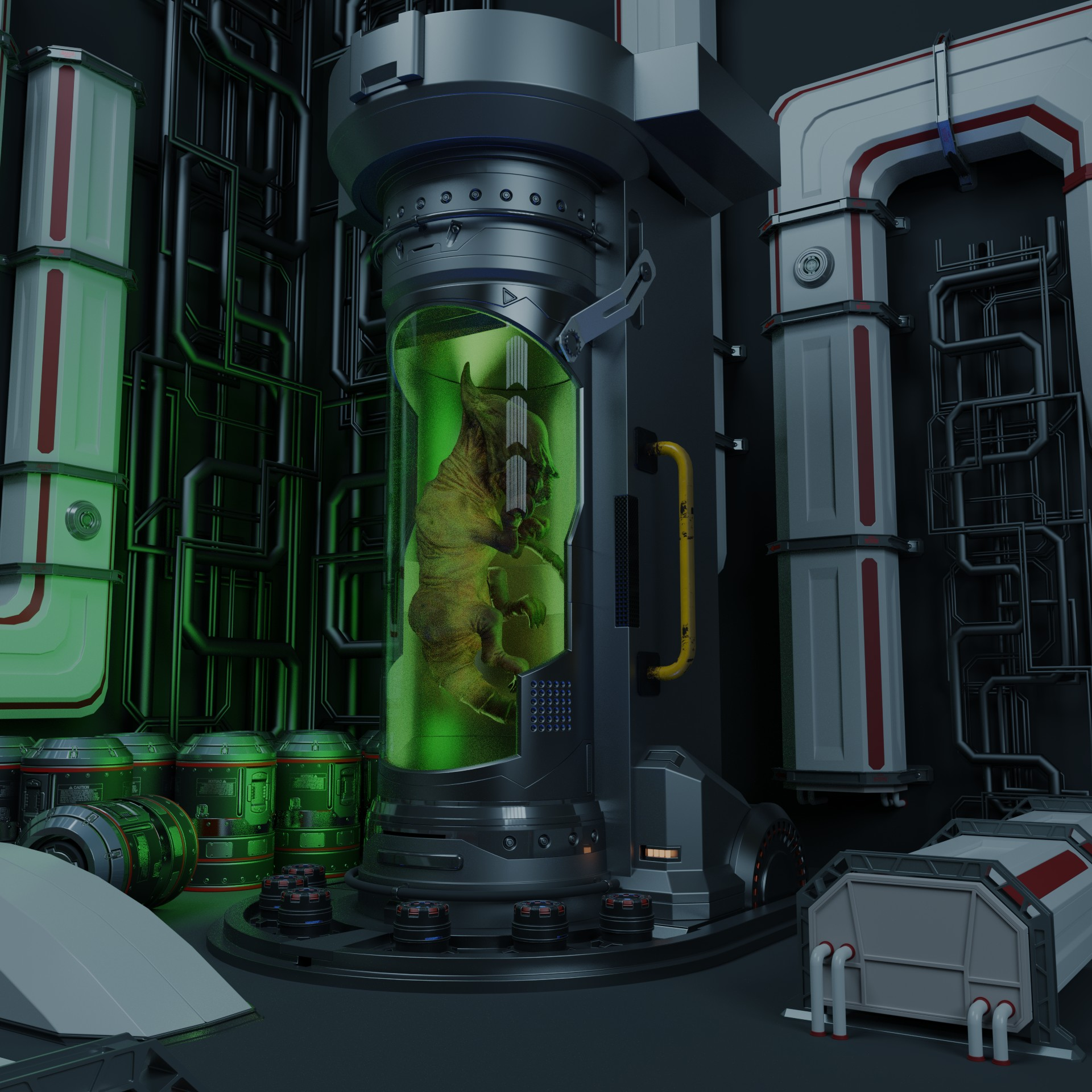 cryo tube alien embryo cryo tube 3d. Black Bedroom Furniture Sets. Home Design Ideas