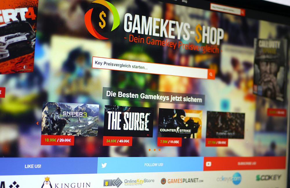 Gamekeys-Shop.de Startseite (Gamekey Preisvergleich)