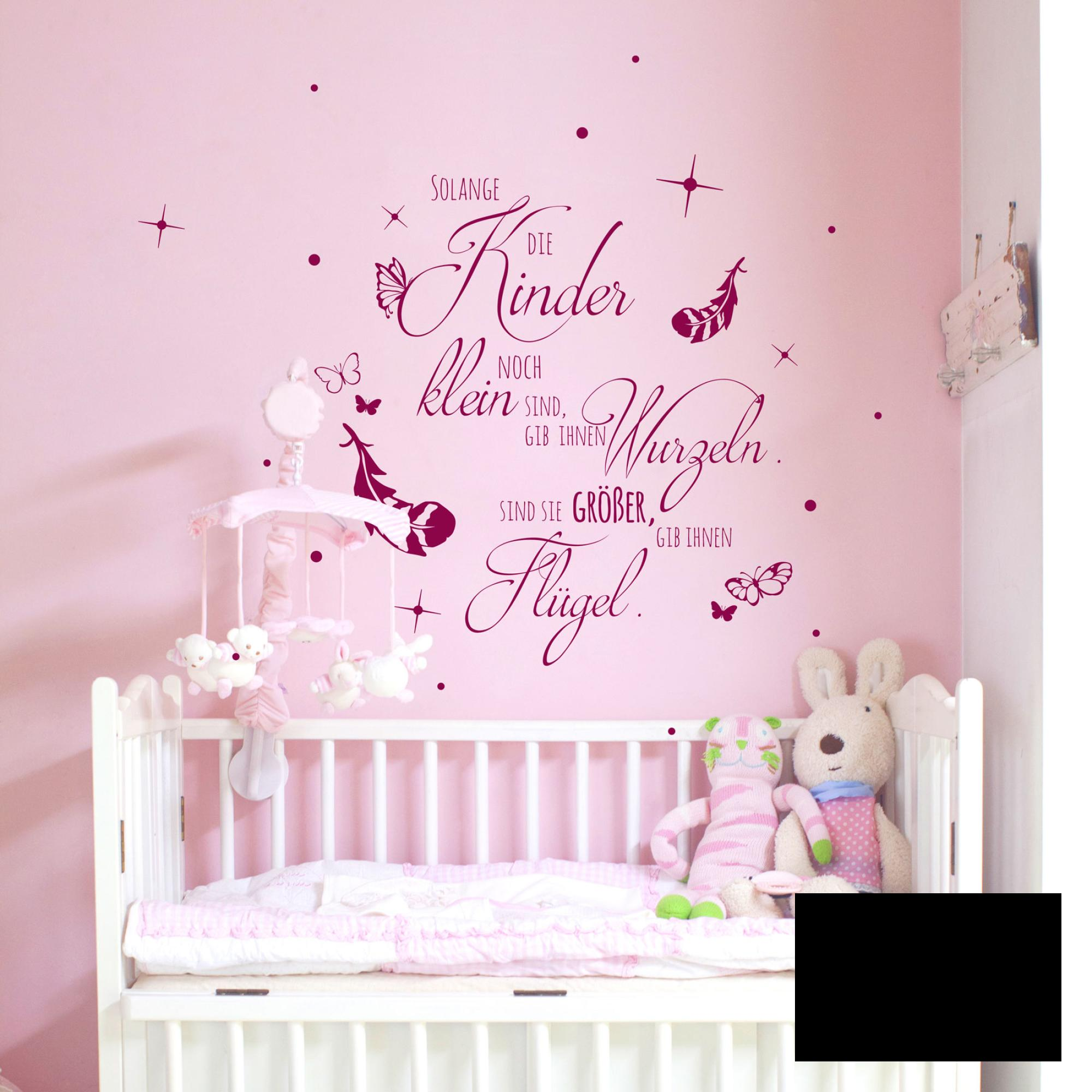 wandtattoo kinderzimmer wandsticker spruch solange kinder klein sind m2155 ebay. Black Bedroom Furniture Sets. Home Design Ideas