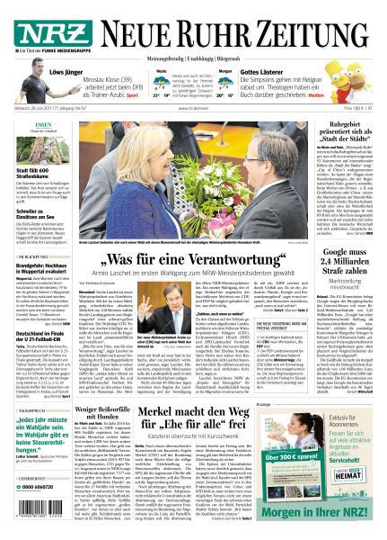Neue Ruhr Zeitung 28 Juni 2017