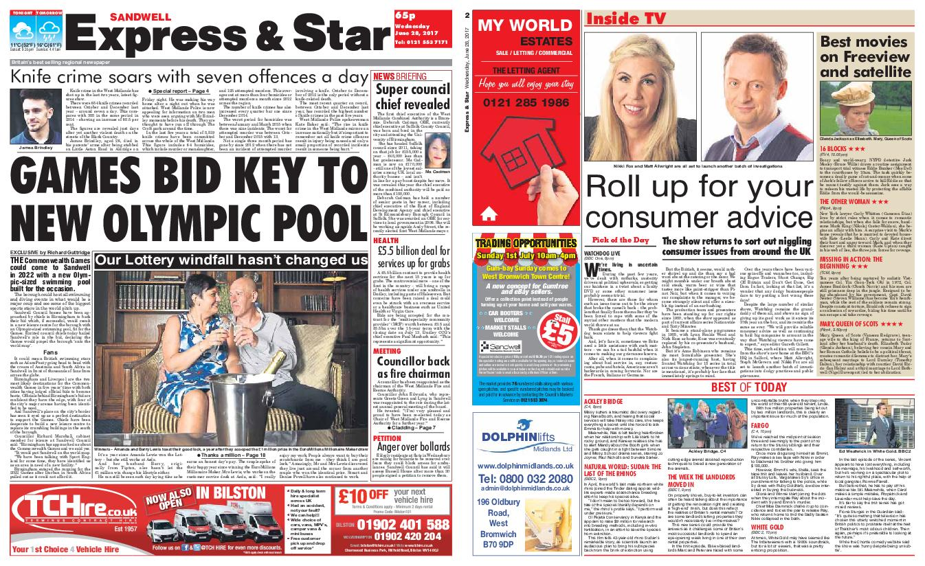 Express and Star Sandwell Edition June 28 2017