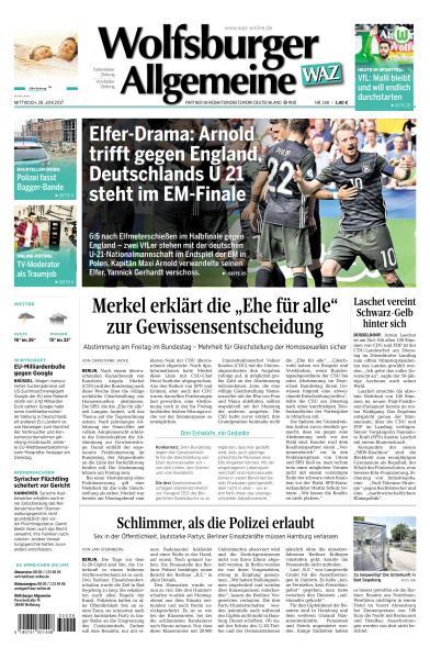 Wolfsburger Allgemeine Zeitung 28 Juni 2017