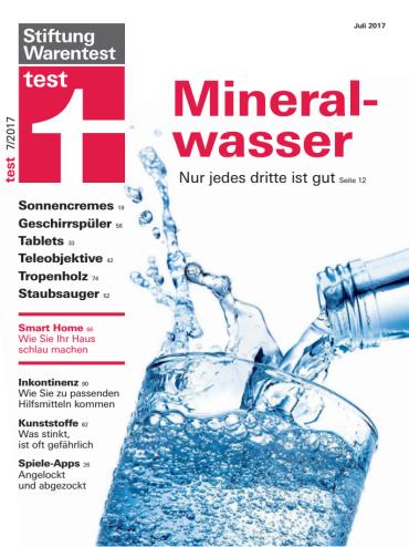 Stiftung Warentest Test Magazin Juli No 07 2017