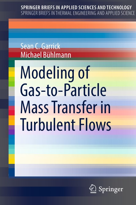 Modeling of Gas to Particle Mass Transfer in Turbulent Flows