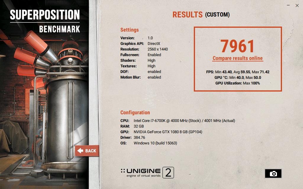 Show your Unigine Superposition results - GeForce Forums