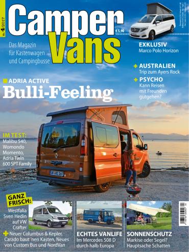 magazine for Camper Vans Magazin Juli August No 04 2017