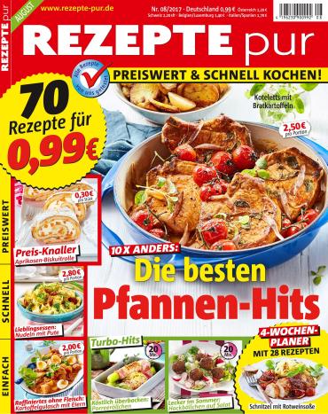 magazine for Rezepte Pur Magazin August No 08 2017